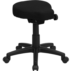 Flash Furniture Black Saddle-Seat Utility Stool with Height and Angle Adjustment<br>(FLA-WL-1620-GG)