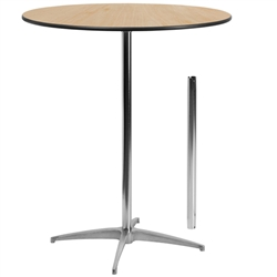 Flash Furniture 36'' Round Wood Cocktail Table with 30'' and 42'' Columns<br>(FLA-XA-36-COTA-GG)