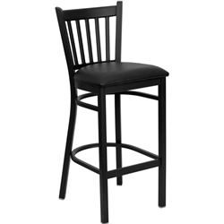 Flash Furniture HERCULES Series Black Vertical Back Metal Restaurant Bar Stool<br>(FLA-XU-DG-6R6B-VRT-BAR-GG)