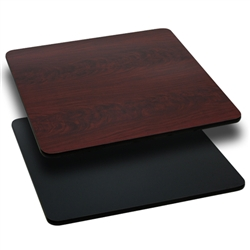 Flash Furniture 24'' Square Table Top with Black or Mahogany Reversible Laminate Top<br>(FLA-XU-MBT-2424-GG)