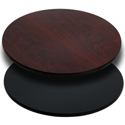 Flash Furniture 24'' Round Table Top with Black or Mahogany Reversible Laminate Top<br>(FLA-XU-RD-24-MBT-GG)
