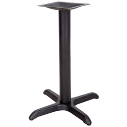 Flash Furniture 22'' x 22'' Restaurant Table X-Base with 3'' Dia. Table Height Column<br>(FLA-XU-T2222-GG)