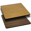 Flash Furniture 24'' Square Table Top with Natural or Walnut Reversible Laminate Top<br>(FLA-XU-WNT-2424-GG)