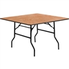 Flash Furniture 48'' Square Wood Folding Banquet Table<br>(FLA-YT-WFFT48-SQ-GG)