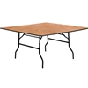 Flash Furniture 60'' Square Wood Folding Banquet Table<br>(FLA-YT-WFFT60-SQ-GG)