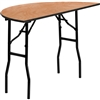 Flash Furniture 48'' Half-Round Wood Folding Banquet Table<br>(FLA-YT-WHRFT48-HF-GG)
