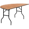 Flash Furniture 72'' Half-Round Wood Folding Banquet Table<br>(FLA-YT-WHRFT72-HF-GG)