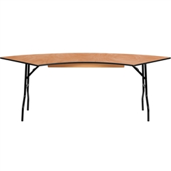 Flash Furniture 7.25 ft. x 2.5 ft. Serpentine Wood Folding Banquet Table<br>(FLA-YT-WSFT60-30-SP-GG)