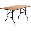 Flash Furniture 30'' x 60'' Rectangular Wood Folding Training / Seminar Table with Smooth Clear Coated Finished Top<br>(FLA-YT-WTFT30X60-TBL-GG)