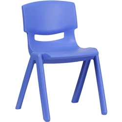 Flash Furniture Plastic Stackable School Chair with 13.25'' Seat Height<br>(FLA-YU-YCX-004-GG)