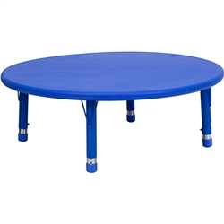 Flash Furniture 45'' Round Height Adjustable Plastic Activity Table<br>(FLA-YU-YCX-005-2-ROUND-GG)