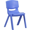 Flash Furniture Plastic Stackable School Chair with 15.5'' Seat Height<br>(FLA-YU-YCX-005-GG)