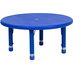 Flash Furniture 33'' Round Height Adjustable Plastic Activity Table<br>(FLA-YU-YCX-007-2-ROUND-GG)