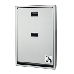 Foundations Surface Mount Full Stainless Steel Changing Station - Vertical Mount (Foundations FOU-100SSV-SM)
