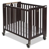 Foundations Full-Size HideAway EasyRoll Folding Fixed-Side Crib Antique Cherry<br> (Foundations FOU-1011852)