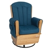 Foundations Saferocker Ss Swivel Glider Rocking Chair - Natural/Blue (Foundations FOU-4303046)
