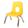 "Fuerza Preschool Chair with Chrome Legs 10"" Seat Height"