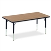"FZA-482448LO-ASAP  - Rectangle Preschool Activity Table (24""W x 48""L x 17-25""H) - Light Oak Top (FZA-482448LO-ASAP)"