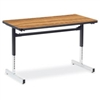 "Fuerza 872448 Computer Table - Rectangular 24"" x 48"", 1 1/8"" Thick Laminate Top, Height Adjusts 22"" - 30""  (FZA-872448-ASAP)"