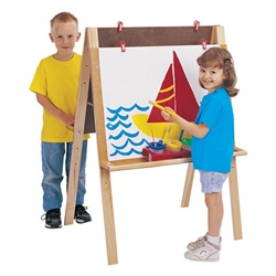 Jonti-Craft Double Adjustable Easel Youth Height  (Jonti-Craft JON-0218JC)