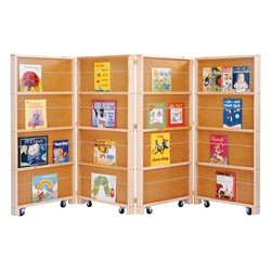 Jonti-Craft Mobile Library Bookcase - Four Sections  (Jonti-Craft JON-0267JC)