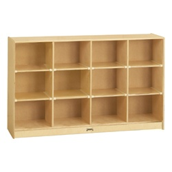 Jonti-Craft Baltic Birch 12-Cubby Storage Unit with out Tubs  (Jonti-Craft JON-0304JC)