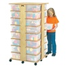 Jonti-Craft Mobile Cubby Storage Tower - 32 Cubbies with Colorful Tubs  (Jonti-Craft JON-0354JC)