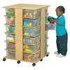 Jonti-Craft Mobile Cubby Storage Tower - 24 Cubbies with Clear Tubs  (Jonti-Craft JON-03640JC)
