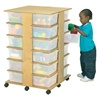 Jonti-Craft Mobile Cubby Storage Tower - 24 Cubbies with out Tubs  (Jonti-Craft JON-03649JC)