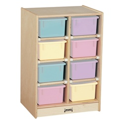 Jonti-Craft Baltic Birch Eight-Tray Mobile Storage Unit with out Trays  (Jonti-Craft JON-0605JC)