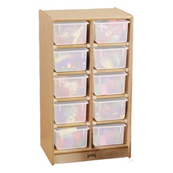 Jonti-Craft Baltic Birch 10-Cubby Mobile Storage Unit with out Trays  (Jonti-Craft JON-0610JC)