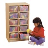Jonti-Craft Baltic Birch 10-Cubby Mobile Storage Unit with Clear Trays  (Jonti-Craft JON-06110JC)