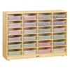 Jonti-Craft Baltic Birch Paper Tray Cubby Unit - 24 Cubbies with Clear Trays  (Jonti-Craft JON-06250JC)
