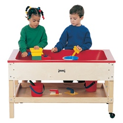 Jonti-Craft Sensory Sand and Water Table with One Tub and Shelf  (Jonti-Craft JON-2856JC)