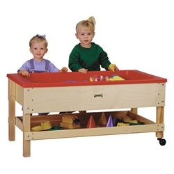 Jonti-Craft Sensory Sand and Water Table with One Tub and Shelf  (Jonti-Craft JON-2866JC)