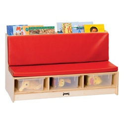 Jonti-Craft Literacy Couch - Red  (Jonti-Craft JON-37480JC)