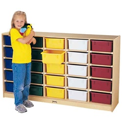 Jonti-Craft 25-tub Single Storage Unit With Colored Tray  (Jonti-Craft JON-4026JC)