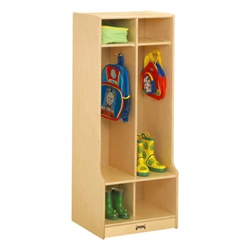 Jonti-Craft Double Locker Unit with Step  (Jonti-Craft JON-4682JC)