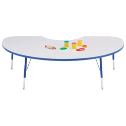 "Jonti-Craft 1 1/8"" Kidney Rainbow Accents Activity Table  (Jonti-Craft JON-6423)"