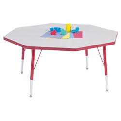 "Jonti-Craft 1 1/8"" Octagon Rainbow Accents Activity Table  (Jonti-Craft JON-6428)"