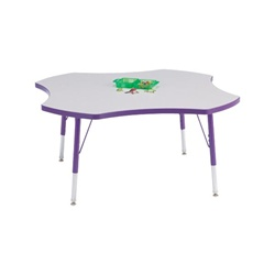 "Jonti-Craft 1 1/8"" Four-Leaf Rainbow Accents Activity Table  (Jonti-Craft JON-6453)"