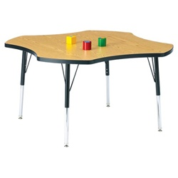 "Jonti-Craft 1 1/8"" Four-Leaf Preschool Activity Table  (Jonti-Craft JON-6453JC)"