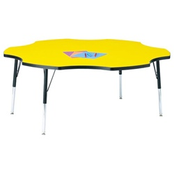 "Jonti-Craft 1 1/8"" Six-Leaf Preschool Activity Table  (Jonti-Craft JON-6458JC)"