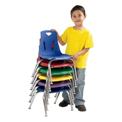 "Jonti-Craft Stackable School Chair with Chrome Legs 12"" Seat Height  (Jonti-Craft JON-8142JC)"