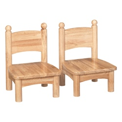 "Jonti-Craft Set of Two Wooden Chairs 7"" Seat Height  (Jonti-Craft JON-8947JC2)"