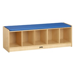 Jonti-Craft Bench Locker With 5 Sections- Blue Cushion  (Jonti-Craft JON-9093JC)