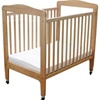 L.A. Baby Arched Wooden Window Crib with Fixed Side Rails - LAB 510 A