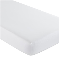 L.A. Baby White 100% Cotton Fitted Sheet for Compact Crib (Set of 6)(L.A. Baby LAB-BD-3702-19)