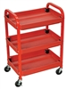 Luxor Utility Cart Three Shelf Adjustable (Luxor LUX-ATC332)