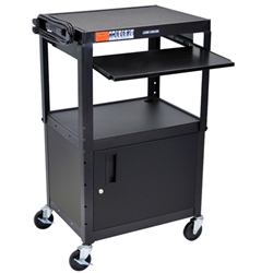 Luxor Steel Adjustable Height Workstation - Black (Luxor LUX-AVJ42KBC)